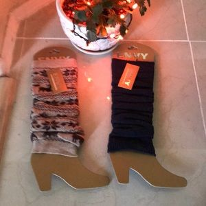 New lot 2 pair envy leg warmers one size all lady